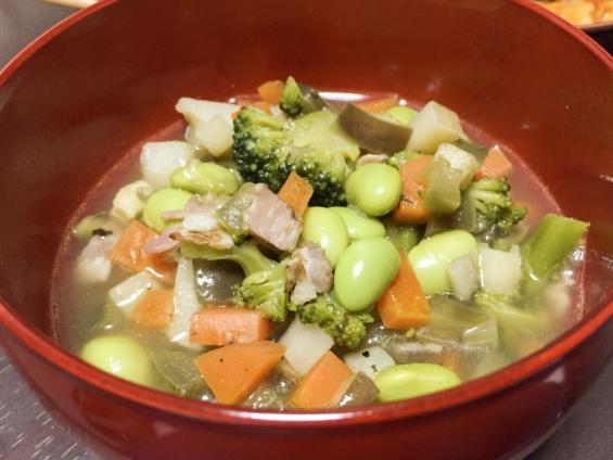 野菜たっぷり和風ミネストローネ