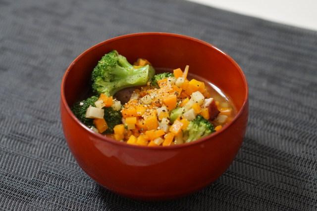 ニンジンとブロッコリーの生姜スープ